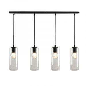 Design hanglamp Manita, 4 Transparante kokers