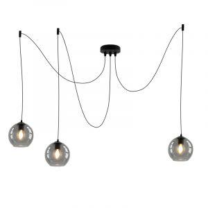 Design plafondlamp Penny met 3 rookglas bollen