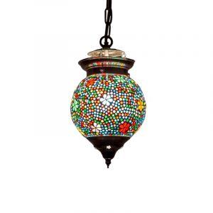 Gekleurde oosterse hanglamp Nisrin, mozaiek