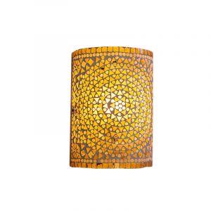 Bruine, beige oosterse wandlamp Mahdia, mozaiek
