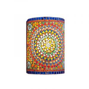 Gekleurde oosterse wandlamp Mahdia, mozaiek