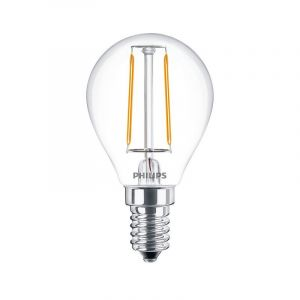 Philips LED filament kogel 2-25W E14 827 P45 helder