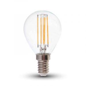 Dimbare E14 LED filament kogel, Warm wit - 4 Watt