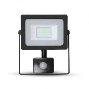 LED schijnwerper LENDO, zwart, Met bewegingsmelder - 3000K 30w