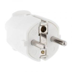 Stekker Randaarde PVC 10/16 Ampère, Wit