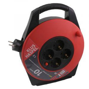 Q-link kabelbox, met randaarde, 10m zwart/rood