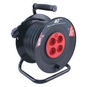 Q-Link kabelhaspel 40 m zwart/rood met randaarde