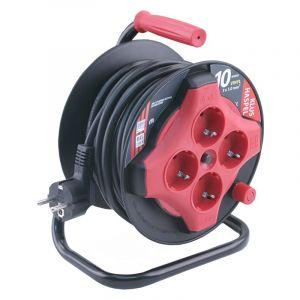 Q-Link kabelhaspel mini 10 m zwart/rood