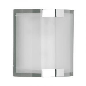 Glazen, metalen wandlamp Grazie