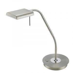 Moderne tafellamp Robin, Nikkel Mat