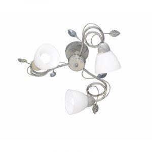 Grijze plafondlamp Asude, Metaal,Glas
