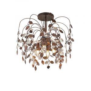 Design plafondlamp Charlotte, Roestkleur Antiek
