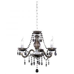 Pedra hanglamp, zwart, sierlijk