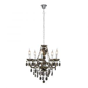 Zwart, chrome, hanglamp Tosca
