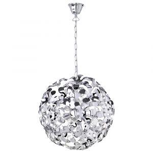 Lilian hanglamp, origineel design, chromen bol