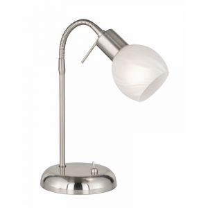 Moderne tafellamp Millinge, Nikkel