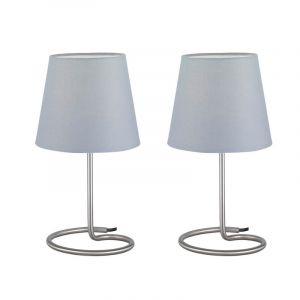 Moderne Tafellamp Viraisa - Nikkel Mat, Grijs