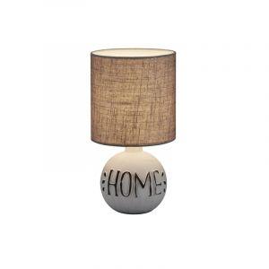Witte tafellamp Mosh, Keramiek