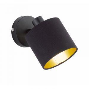 Mat Zwarte wandlamp Koge, Modern