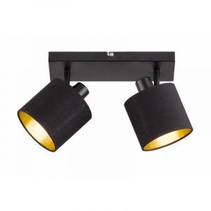 Mat Zwarte plafondlamp Koge, Modern