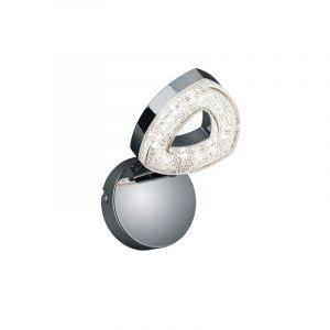 Klassieke, Moderne Wandlamp Vaye - Chroom, Transparant Helder