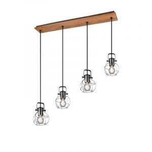 Zilveren hanglamp Tanesha, metaal, vintage