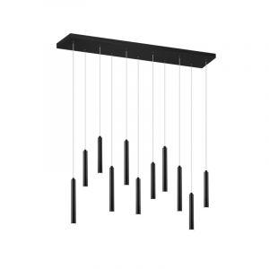 Moderne hanglamp Jessamy, zwart, 2,5w geintegreerd LED