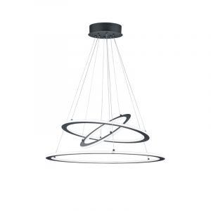 Moderne hanglamp Monja, antraciet, 75w geintegreerd LED