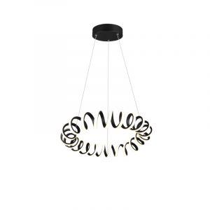 Moderne hanglamp Noemi, zwart, 33w geintegreerd LED