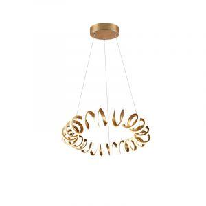 Moderne hanglamp Noemi, goud, 33w geintegreerd LED
