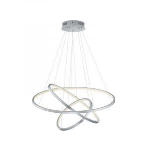 Moderne hanglamp Harold, nikkel, 80w geintegreerd LED