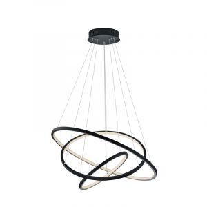 Moderne hanglamp Harold, antraciet, 80w geintegreerd LED
