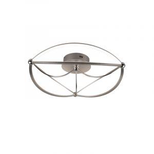 Moderne plafonniere Remy, nikkel, 42w geintegreerd LED