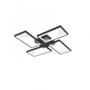 Moderne plafonniere Silas, antraciet, 28w geintegreerd LED