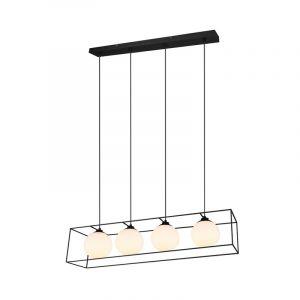 Zwarte hanglamp Muleby, metaal, modern