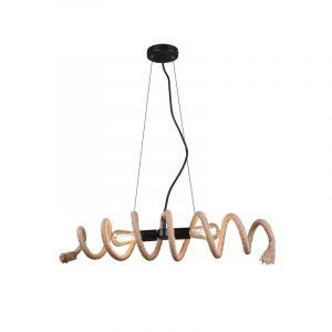 Moderne hanglamp Akkelien, zwart