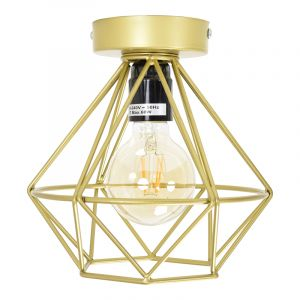 Stoere, industrie plafondlamp Merlon, Gaaslook