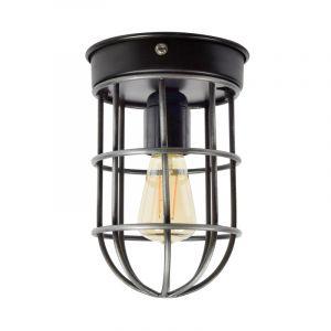 Industriële wandlamp Doris, Vintage zwart