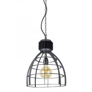 Industriële hanglamp Redstar, Zwart steel