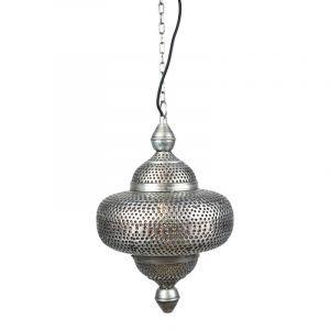 Bohemian hanglamp Pip, Vintage zink