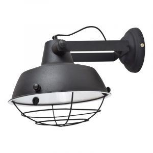 Zwarte, industriële wandlamp Fenre