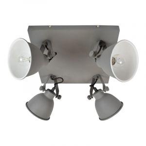Industrie spot Redon, vintage grijs, 4-lampjes