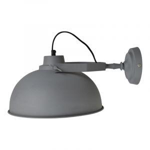 Grijze, industriële wandlamp Fetih
