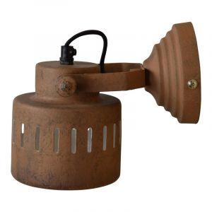 Roestkleur wandlamp Ferby, Industrieel