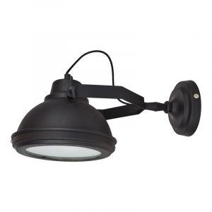 Zwarte, industriële wandlamp Fien