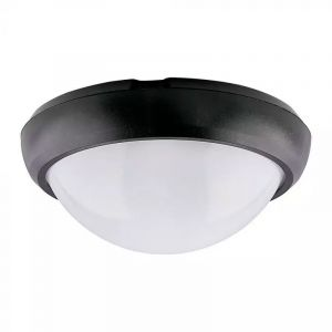 Zwarte portiekverlichting Xenia, 8w, 4000K, Rond.