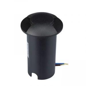 Zwarte grondspot Marcus (2 stralen), kunststof, IP67, 1w, 3000K