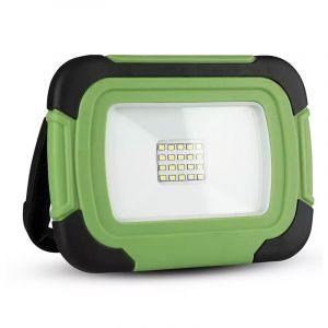 Groene accu bouwlamp Mechelina, kunststof, 10w 6400K (koud wit) LED.