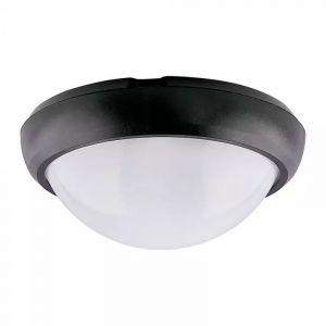 Zwarte portiekverlichting Xenia, 12w, 6400K, Rond.