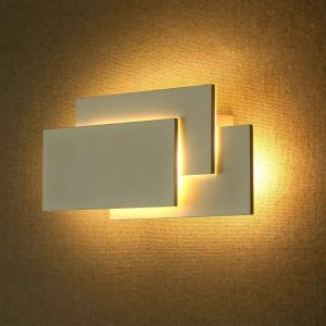 Witte moderne up down wandlamp, Keo, aluminium, 12w 4000K (wit) LED.